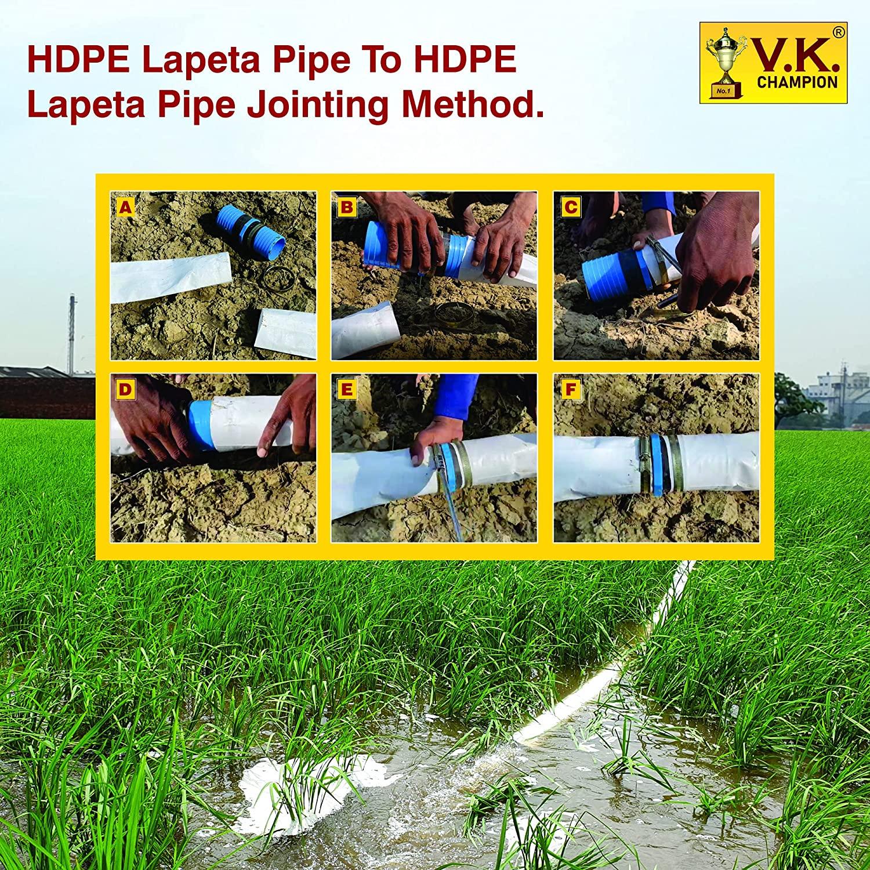 V.K. Champion HDPE Lapeta Pipe (A+B = 75 Meter)