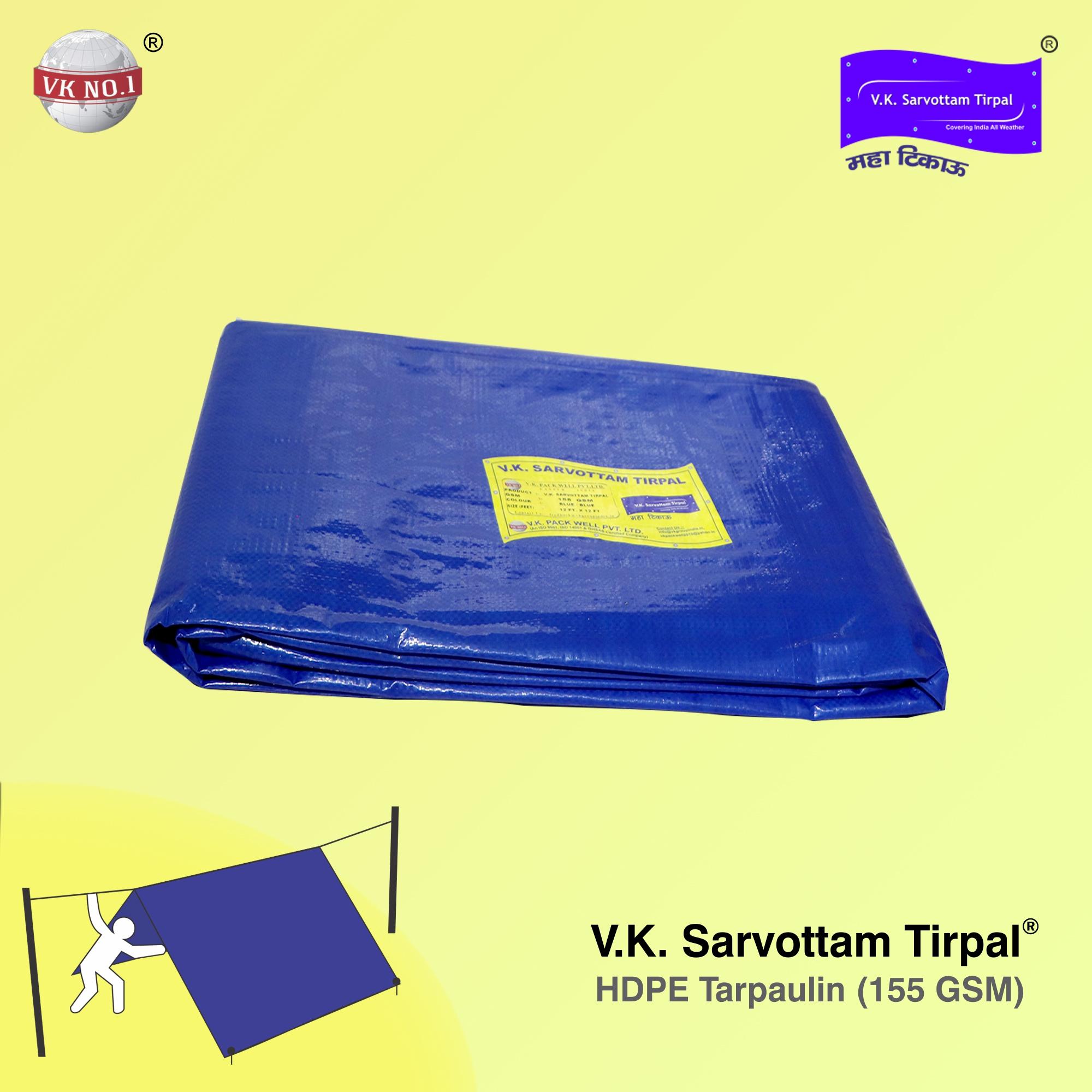 V.K. Sarvottam HDPE Tirpal (155 GSM)
