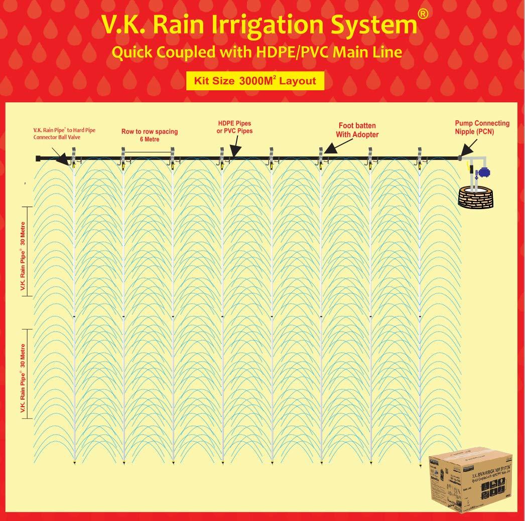 V.K. Rain Irrigation System Compatible with HDPE Sprinkler Quick Coupled - 25MM